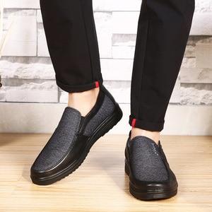 Image 5 - 2020 autunno Mens Casual Scarpe Comode Traspirante Slip on scarpe di Tela Piatta Mocassini Scarpe Uomo di Guida Morbido Scarpe Formato di Grandi Dimensioni 50