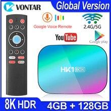 HK1 BOX 8K Max 4GB 128GB TV Box Amlogic S905X3 Android 9.0 Smart TV BOX 4K 1000M Dual Wifi Google Playstore Youtube Set top Box