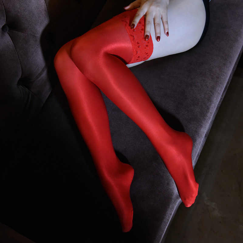 Sexy 70d Oil Glossy Stockings Shaping Pantyhose Shiny Satin Shape Stockings Christmas Silicone Non Slip Hosiery Dance Lingerie Stockings Aliexpress