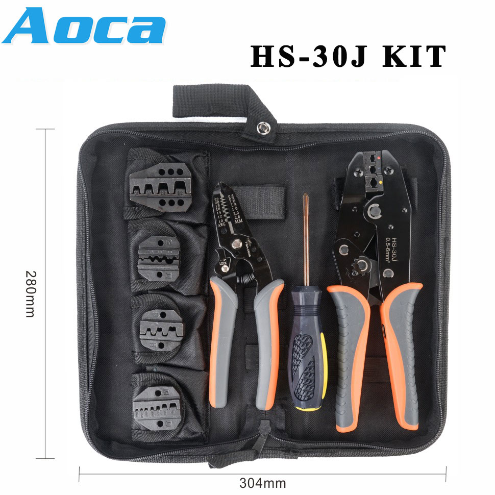 New <font><b>HS</b></font>-<font><b>30J</b></font> KITS crimping Plier for Molex Style DELPHI AMP TYCO Terminals Crimper Automotive Terminal Crimp Wiring Harness Tool image
