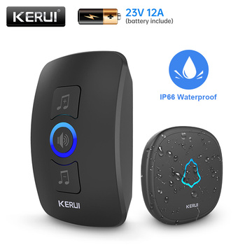 KERUI M525 Home Security Welcome Wireless Doorbell Smart Chimes Door Bell Alarm LED Light 32 Songs With Waterproof Touch Button 1