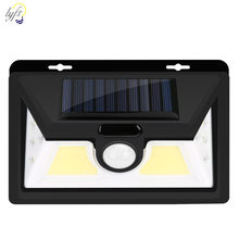 Luz Solar al aire libre 32LED COB Ultra alto brillo gran angular iluminación Sensor de movimiento luz seguridad impermeable lámpara Solar de pared(China)