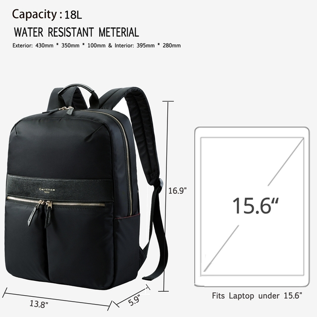 RFID Blocking Lightweight 15.6 Inch Laptop Backpack School Bag Laptop Bag 15.6 For Macbook Pro 15 Case Business Backpack Women