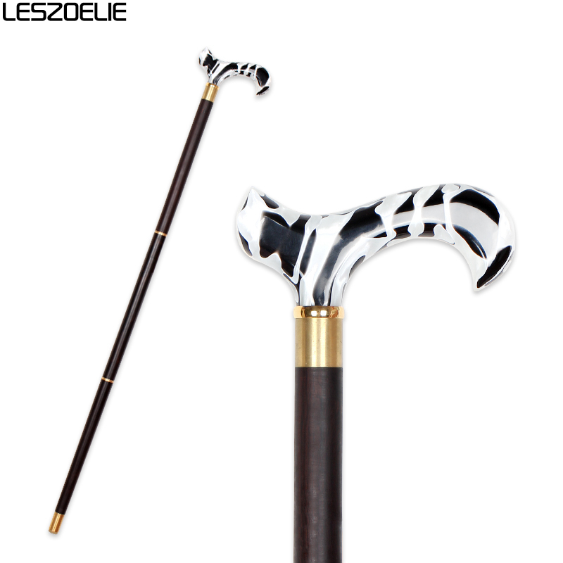 Luxury Acrylic Handle Wooden Walking Stick Men Fashion Decorative Stick Women Elegant  Resin Handle Vintage Wooden Walking Cane