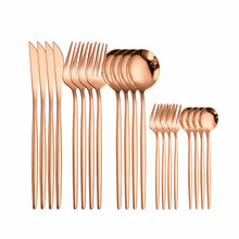 Pink Gold Forks Spoons Knives Cutlery Set 20 Pcs Set Cutlery Knives Sets Wedding Tableware Stainless Steel Flatware Cutlery Gold