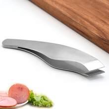1pc aço inoxidável peixe osso pinça clipes alimentos pinças ferramenta de remoção do cabelo em ângulo presunto pinças cozinha alicate ferramenta frutos do mar
