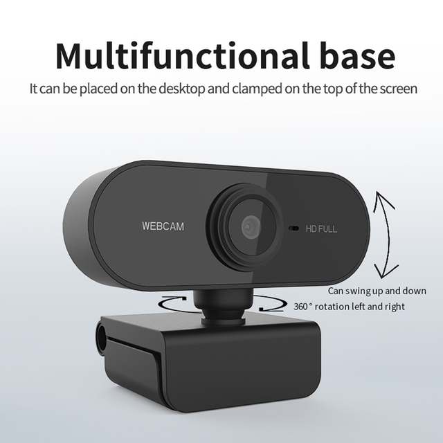 Webcam 1080p completo hd câmera web com microfone usb plug webcam para computador portátil mac desktop youtube skype mini câmera 5