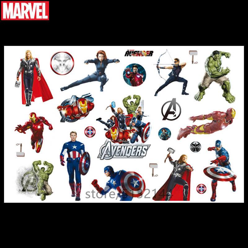 Hasbro Marvel 17*10cm Dönüştürme araba adam Kaptan Amerika Karikatür su transfer Çocuk Dövme Etiket Parti Komik Etiket oyuncak