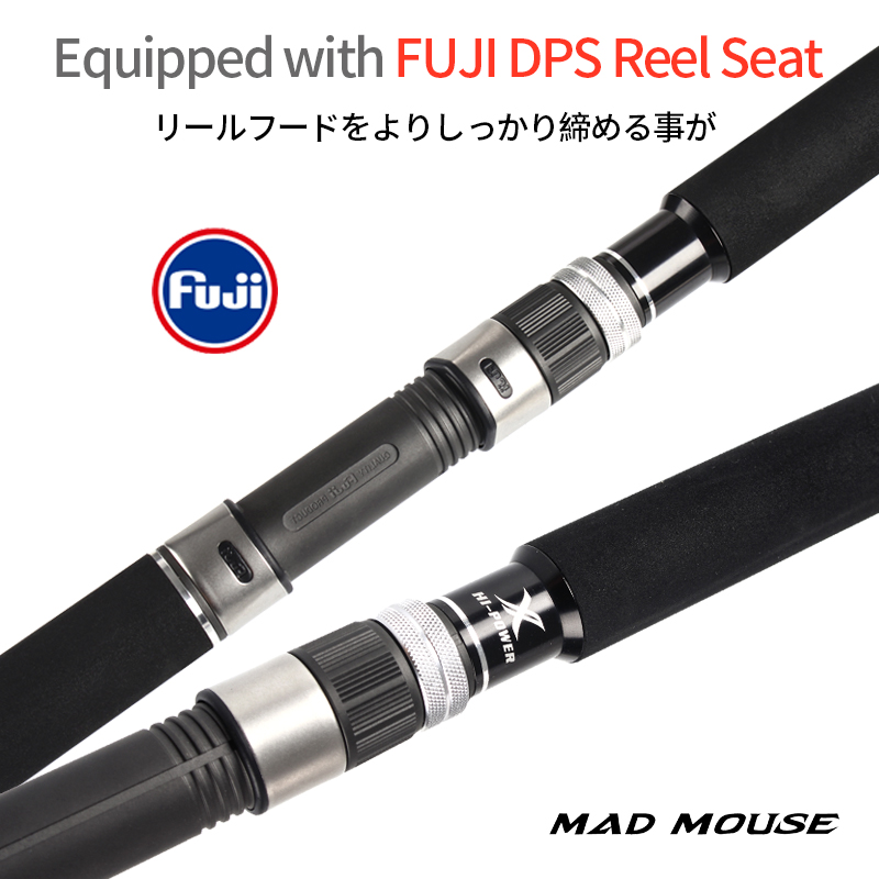 MADMOUSE Kuroshio FUJI Parts Carbon Fiber Spinning Fishing Popping Rod with 2.64m 2.4m PE 3-10 80H/88XH Ocean Rod For GT Fishing 4