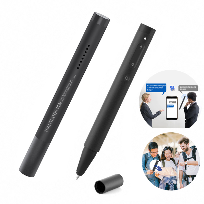 Language Instant Voice Translator Pen Portable Mini Pocket Dual-way Real Time Multi Language Learning Travel Translation Pen image