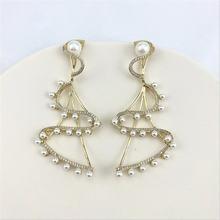 Yikuf88 s925 серебро иглы Для женщин серьги вращающийся пачка