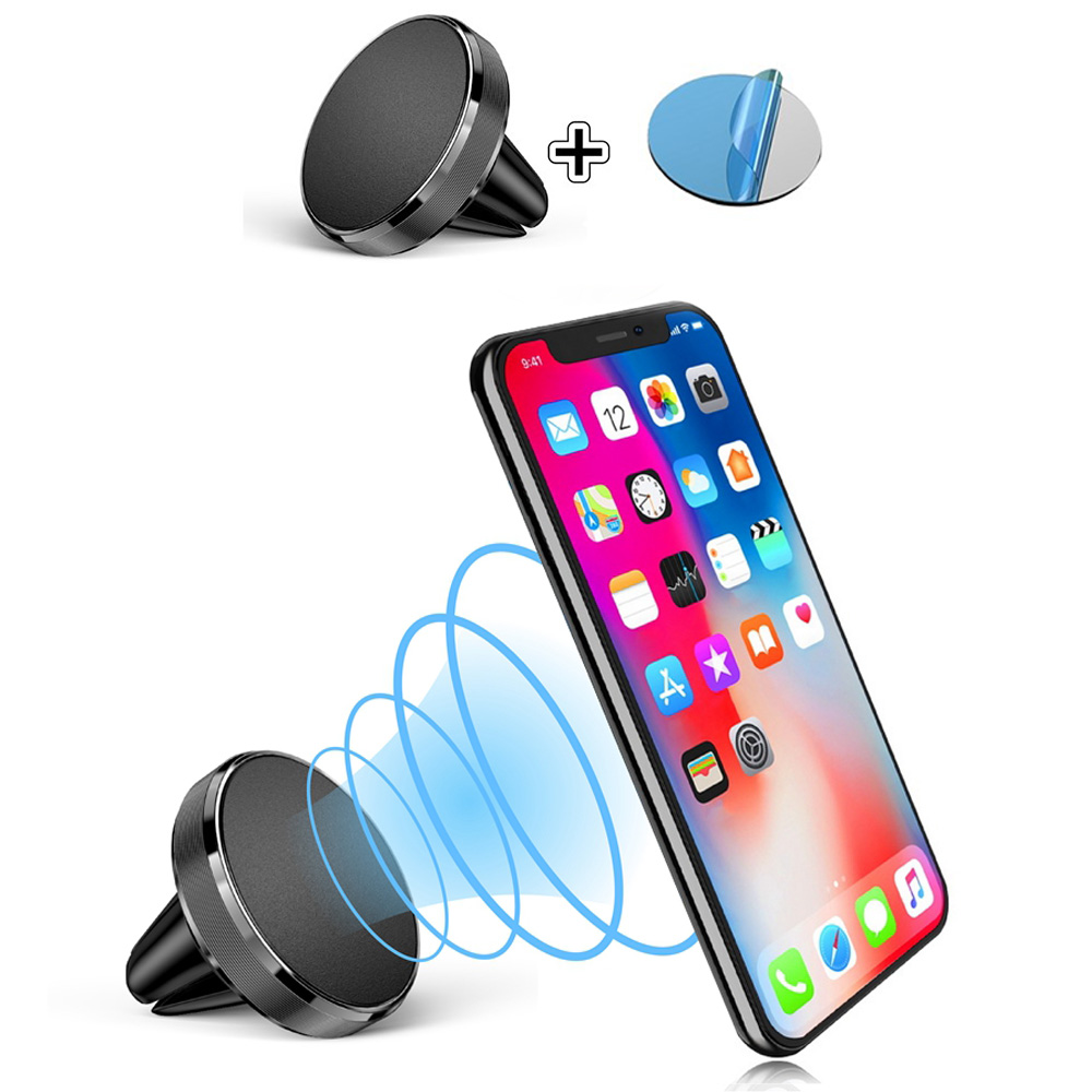 Universal Magnetic Car Phone Holder Stand In Car For IPhone X Samsung Magnet Air Vent Mount Cell Mobile Phone Support GPS