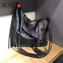 AETOO 2019 original retro bag diagonal simple leather handbags first layer art college wind shoulder