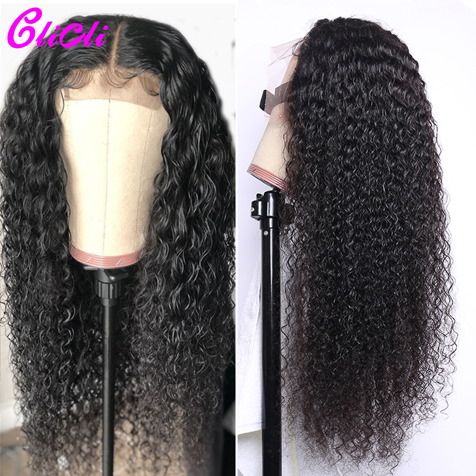 Brazilian Remy Hair Lace Front Wigs Kinky Curly 13x6 Deep Part Human Hair Lace Wigs 150% Density Bleach Knots Middle Ratio