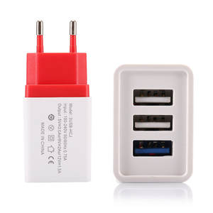 New 2A 3-port USB Universal Charger Quick Charge 3.0 EU Plug Wall Travel Charger For Samsung Xiaomi Huawei iPhone
