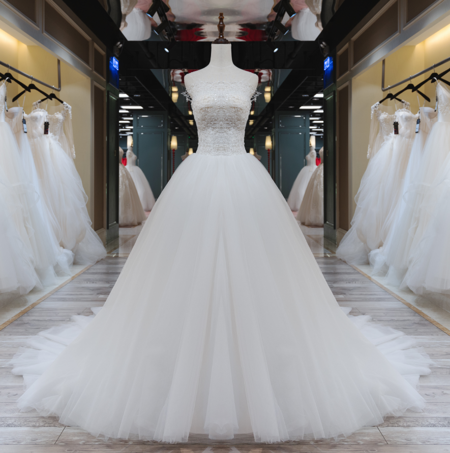 Jusere In stock Ball Gown Tulle Bridal Dress Lace  Wedding Dresses Fast Shipping haute couture