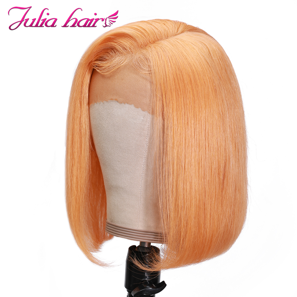 Blonde Bob Lace Front Human Hair Wigs Straight Brazilian Remy 613 Yellow Pink Green 13x4 Lace Front Short Bob Wig Pre Plucked (13)