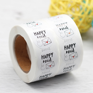 500pcs 1inch Happy Mail Stickers Thank You Seal Label For Small Business Shipping Envelope Packaging Labels Sticker