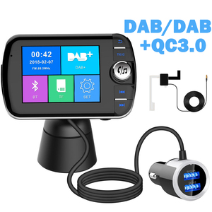 DAB Receiver Bluetooth FM Transmitter Car Mp3 Player QC3.0 Dual USB Charger Support Handsfree TF AUX Music Play with Antenna