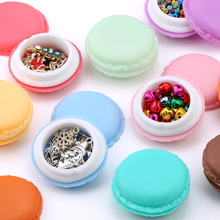 3pieces/lot candy color Macarons storage box portable Mini gift package box lovely jewelry package box case for Small items(China)