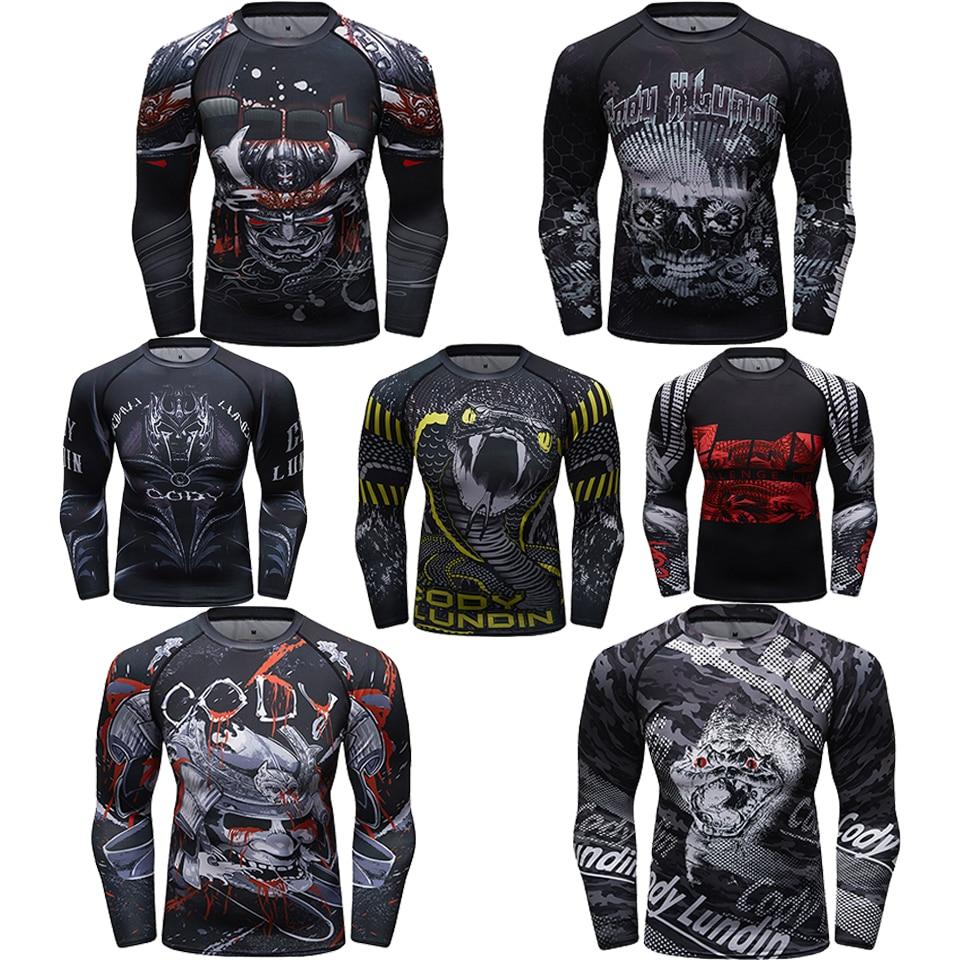 Cheap MMA Boxing Rashguard T-Shirt Men Sublimated Print Breathable Muay Thai BJJ JiuJitsu T-shirts Boxeo Fightwear Training Tees