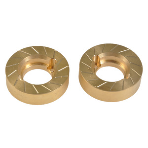 Image 2 - YEAHRUN Heavy Metal Internal Wheel Weights Turning Copper Counterweight For Axial SCX10 II 90046 90047 1/10 RC Car