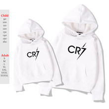 White Cristiano Ronaldo Hoodies Plus Velvet Hoodie Kpop Kids Adult Hoodie Sweatshirt Casual Hip Hop Oversized CR 7 Pullover(China)