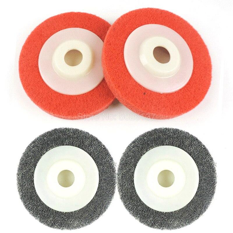 1Pcs 100*16 Angle Polishing Wheel Nylon Fiber Non Woven Abrasive Disc Buffing Pad Grinding Metal Wood On Grinder Ceramics Tool