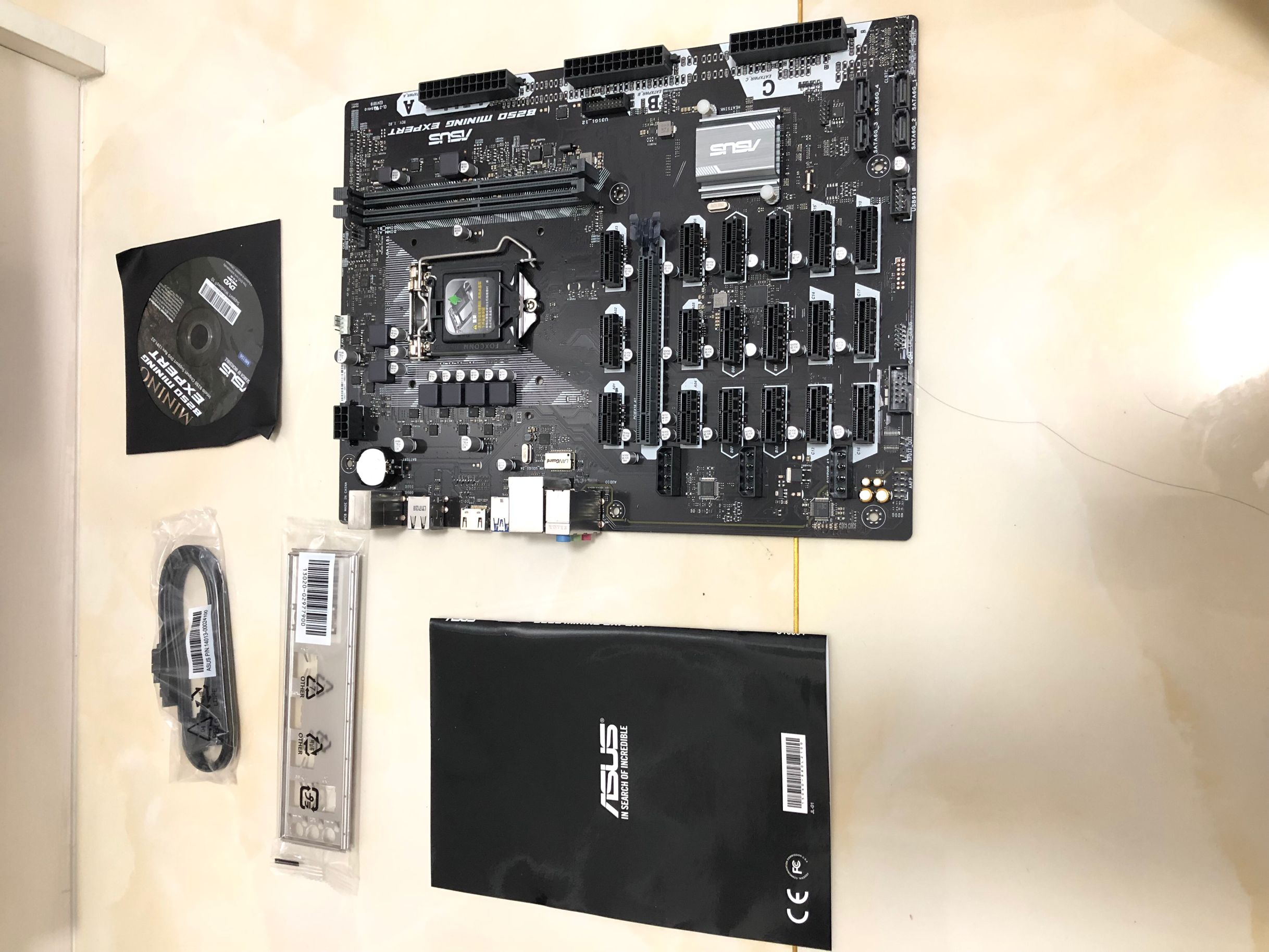 ASUS B250 MINING EXPERT DDR4 LGA 1151 19 Graphics Board 32GB B250 Desktop Motherboard