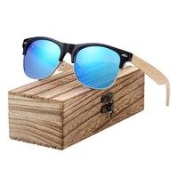 Ronde Vintage - Bambou - Bleu - Coffret en bois