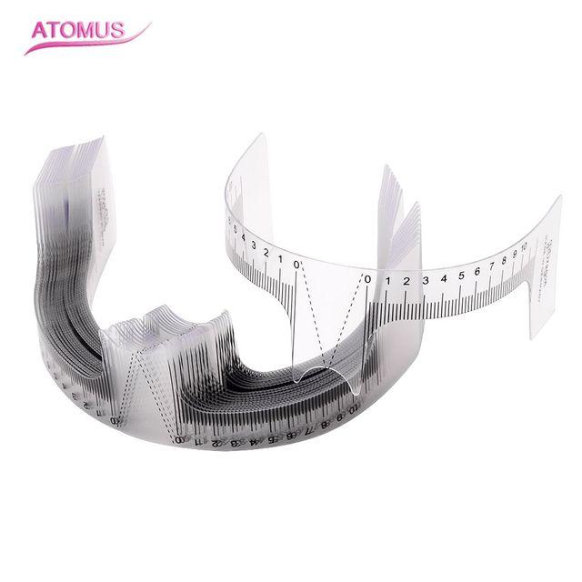 4pcs/lot Reusable Eyebrow Ruler Tool Permanent Makeup Eyebrow Grooming Tattoo Stencil Shaper Rule Measure Tool Makeup Measures