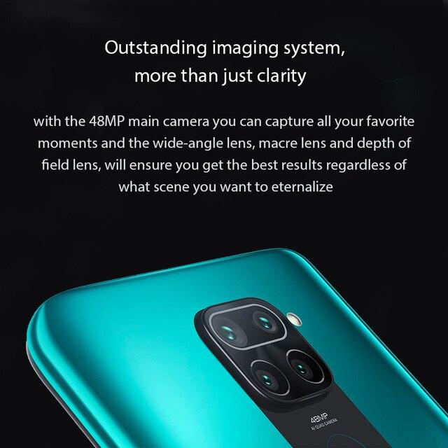Global Version Xiaomi Redmi Note 9 Smartphone NFC 64GB 128GB Helio G85 6.53 48MP AI Quad Camera Note9 Mobile Phones 5020mAh 3