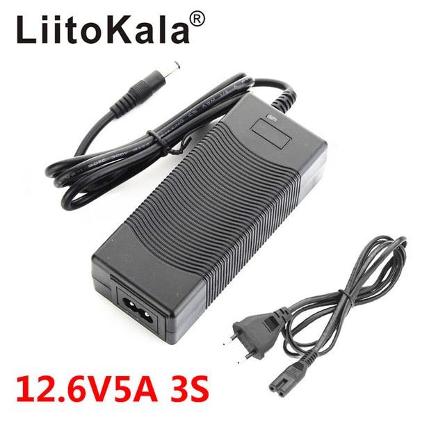 LiitoKala 12.6 فولت 1A 3A 5A بطارية ليثيوم بوليمر 18650 شاحن ، 12.6 فولت محول الطاقة شاحن 12.6V1A ، كامل من أضواء تغيير