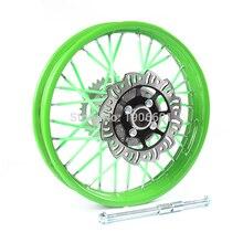 90/100-14 задний диск из алюминиевого сплава обод колеса 1,85x14 дюймов 15 мм ступица для dirt pit Bike