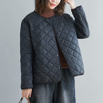 Aransue Lightweight Cotton Padded Jacket Female Short Coat 2020 Autumn And Winter Fashionable Two Side Wearing Thin Top 1