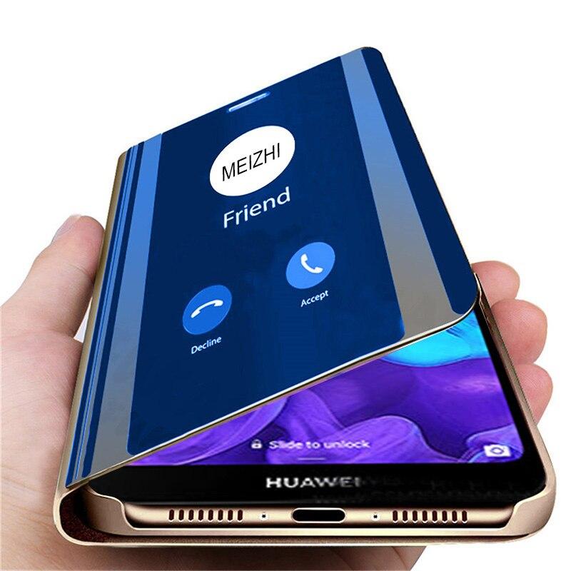 Умный чехол-книжка Huawei Y6/Y7 Pro, Y5/Y6/Y7/Y9 Prime, зеркальный