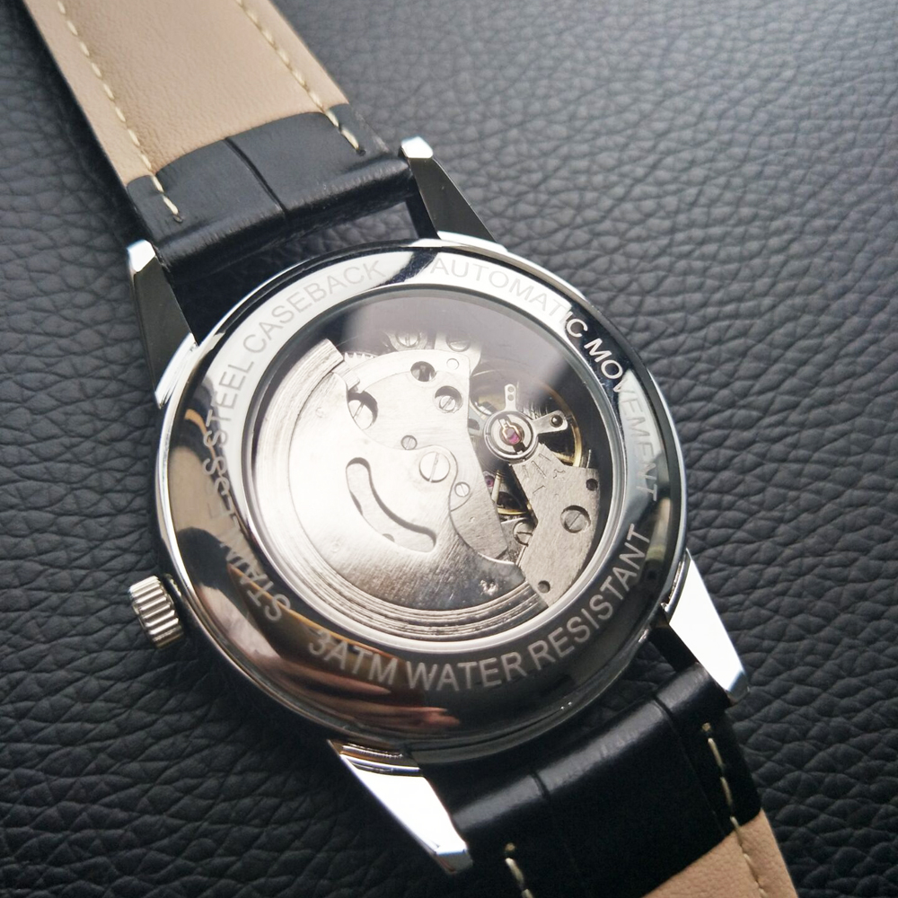 Image 2 - X.A.X Swiss Design Auto Mechanical Watches Self Wind Automatic Watch Men-in Mechanical Watches from Watches