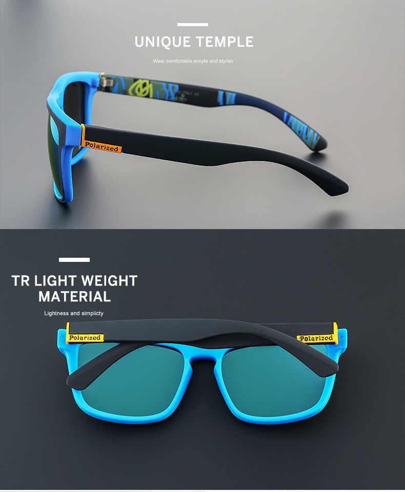 Moda Cara do Sol Óculos Polarizados Óculos De Sol Dos Homens Design Clássico All-Fit Espelho de Óculos De Sol Com Caixa Marca