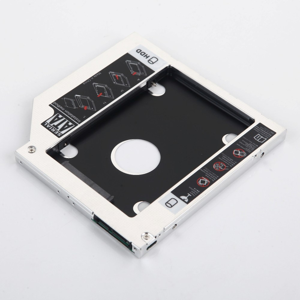 9.5mm 2nd HDD SSD Hard Drive Optical bay Caddy Frame Adapter for HP 240 350 355 250 255 455 G1 G2 G3 G4 G5 DU-8A4SH(China)