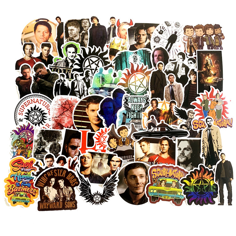 51Pcs SUPERNATURAL TV Movie Handsome Scrapbooking Waterproof Sticker For Fans Luggage Skateboard Phone On Laptop Wall Guitar F4