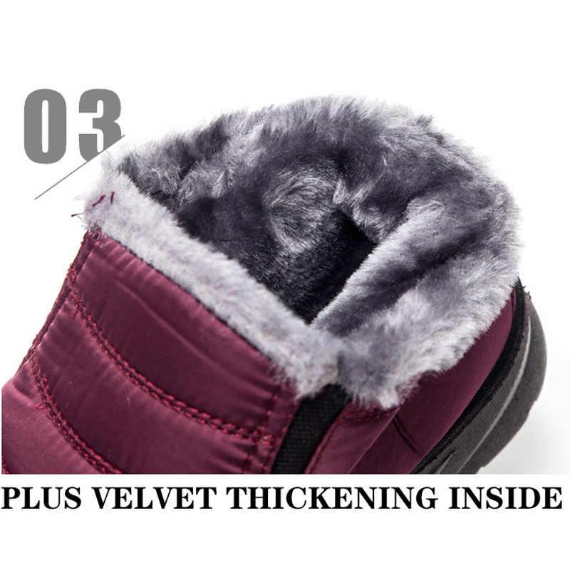 Bottines pour femmes bottes de neige en peluche chaud femmes bottes chaussures d'hiver chaussons 2019 nouvelles femmes bottes d'hiver imperméable femmes chaussures