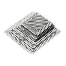 27 шт. BGA трафареты Универсальный прямой обогрев трафареты для SMT SMD Chip Rpair Au11 Прямая поставка