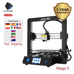 Image 3 - Anycúbico i3 mega s/mega x 3d impressora de metal completo quadro grau alta precisão 3d impressão diy máscaras 3d drucker