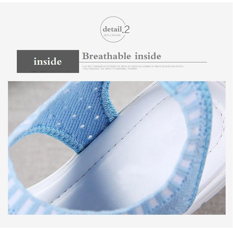 H7e68af42d2e0462c9c70cbdb867515dd4 WDZKN 2019 Sandals Women Summer Shoes Peep Toe Casual Flat Sandals Ladies Breathable Air Mesh Women Platform Sandals Sandalias