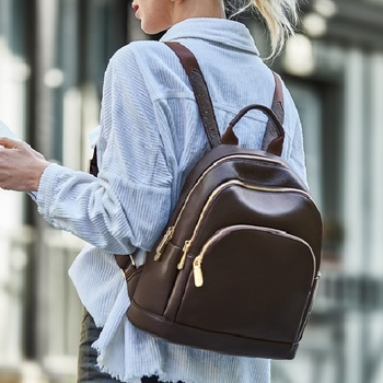 2019 fashion ZOOLER brand Genuine leather backpack bag women leather backpacks quality luxury bags lady travel tote bag#HH200 new cow genuine leather men backpacks fashion real natural leather student backpack boy luxury brand lager computer laptop bag
