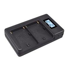 Durabale NP-F970-C дисплей зарядное устройство 5 в цифровой аккумулятор зарядное устройство набор для sony камера F750 F990 заполняющий светильник 2500c для sony CCD-SC5