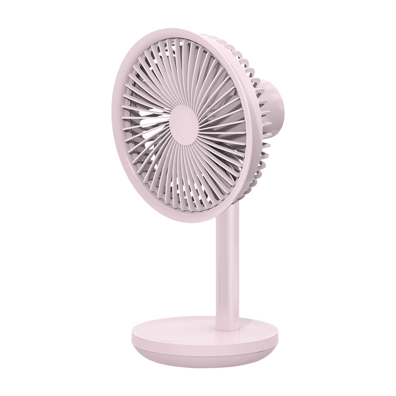 SOLOVE 5W USB Desktop Table Fan 4000mAh USB Rechargeable 3 Modes Wind Speed Cooling Oscillating Fan Black/Pink/White