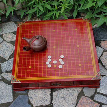 New Antique Go Game Chess Set 50*50*9 CM Pier Retro Go Table Chess Game With Wooden Chess Table Ming And Qing Crafts Table [haotian] bronze fast new chinese antique furniture ming and qing copper door handle lock sheet four seasons peace subsection