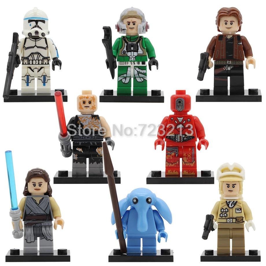 Kesselc Rey A Wing Pilot Hoth Rebel Max Rebo Han Solo Trooper Building Blocks Sets Models Bricks Toys Legoing