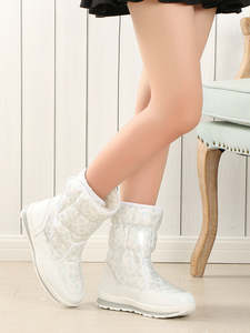 Buffie Fashionable Boots Shoe Outsole Female White Winter Women Brand Warm Lady Anti-Skid